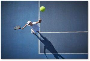 tennis, serving, lobbing, negative loop