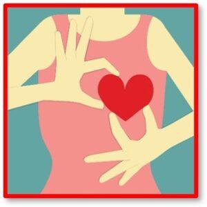 woman holding heart, heart disease, lady killer, symptoms