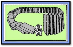 dominoes, domino effect, law of unintended consequences,