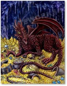Dragon, gold, hoard, dragons of wealth, wealth