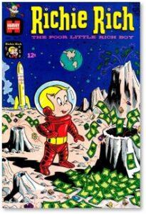 Richie Rich, comic book, poor little rich kid, wealth