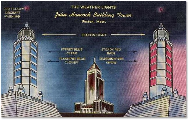 John Hancock, weather beacon, Berkeley Street,