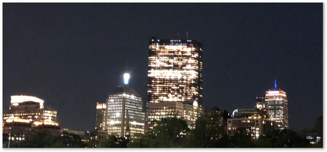 John Hancock, Berkeley Street Building, weather beacon, Boston, skyline