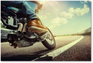 Motorcycle on Highway, Motorcycle accident, high speed