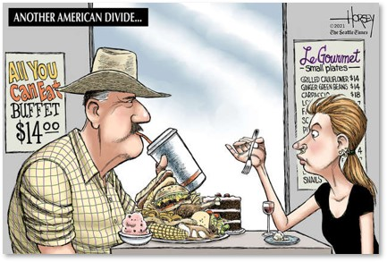 obesity, American divide, diners
