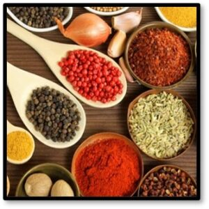 spices, spice blends, hot, salt, pepper