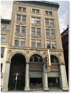 Steinert Building, M Steinert & Son, Piano Row, authorized Steinway dealer, Steinert Hall