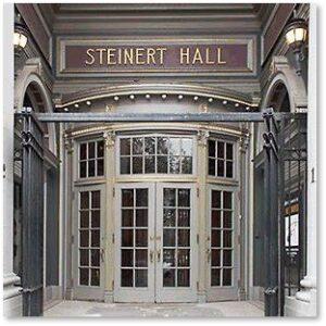 Steinert Hall, concert hall, acoustics, Boylston Street, Alexander Steinert