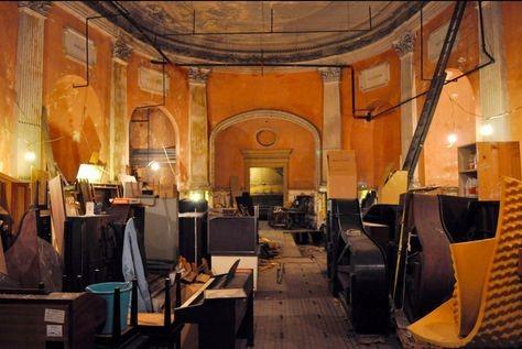 Steinert Hall, abandoned concert hall, underground concert hall