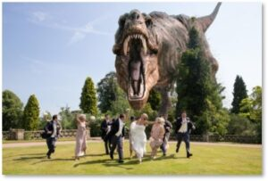 Tyrannosaurus Rex, wedding, T-Rex, stupid