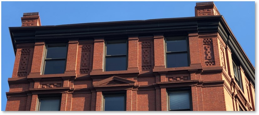 176 Boylston Top Floor, chimneys, panel brick