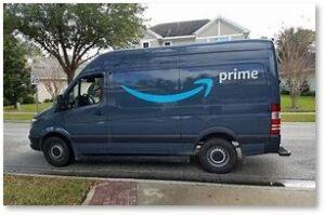 Amazon Prime, delivery truck, smile,