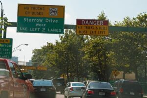 Storrow Drive, warning signs, Storrowed, Department of Conservation and Recreation, DCR, Boston