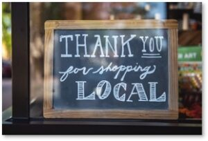 Thank you for shopping local, small business, community support