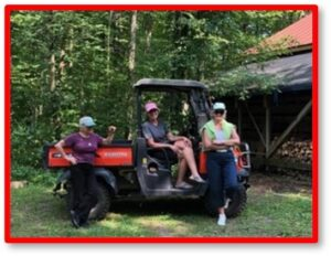 Three chicks and a Kubota, Wisconsin, Susanne Skinner, retreat