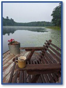 Wisconsin Lake, coffee, reflection, retreatPhoto