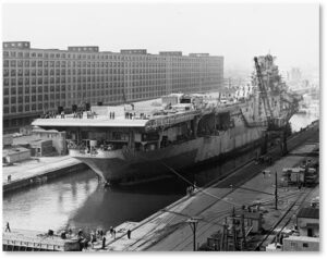 Army Supply Base, Drydock, Aircraft Carrier, Jamestown, WWII