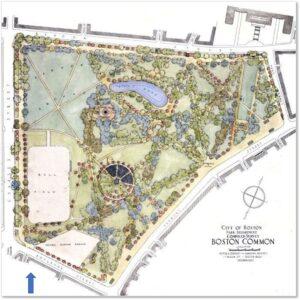 Boston Common, Boylston Street, Map,
