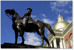 Edward C. Potter, Massachusetts State House, Beacon Hill, Boston,General Joseph Hooker, Fighting Joe Hooker, Daniel Chester French,