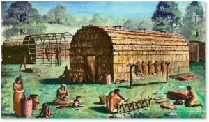 Longhouse, Native American, community, agriculture