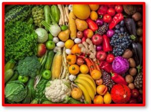 Vegetables, fruits, rainbow, color, eating well