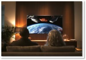 Couple watching television, TV, Watchlist