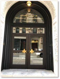 Grand Masonic Lodge of Massachusetts, Boylston Street, Entrance