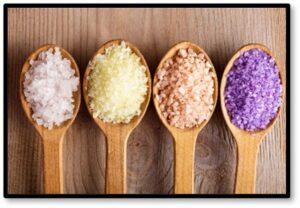 jukyeom, Pink Himalayan salt, sel gris, colored salt,